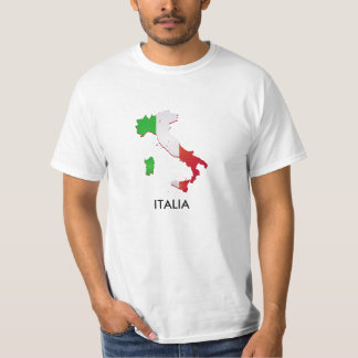 Italia eller italienflaggakarta t shirt