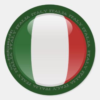 Italien bubblar flagga runt klistermärke