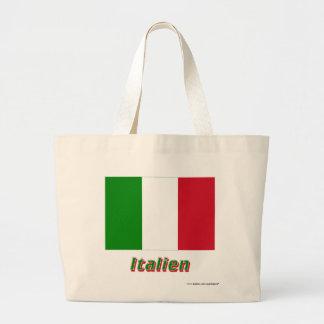 Italien Flagge mit Namen Tote Bag