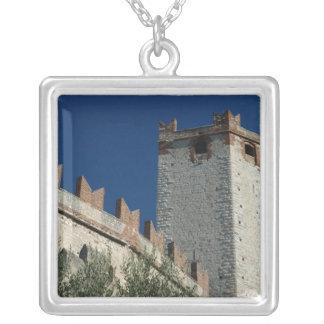 Italien Malcesine, sjö Garda, slott Scaligero 2 Silverpläterat Halsband