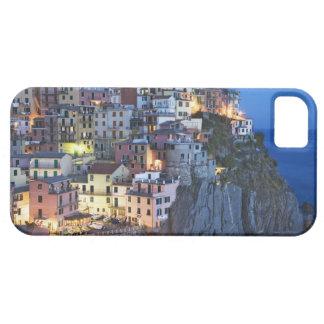 Italien Manarola. Skymningnedgångar på en backtown iPhone 5 Hud