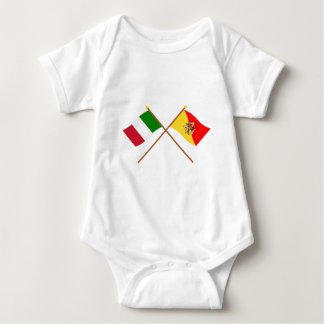 Italien och Sicilia korsad flaggor Tröja