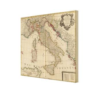Italien och Slovenien 2 Canvastryck