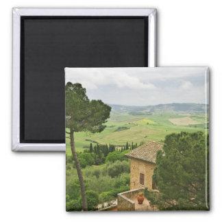 Italien Pienza. Beskåda av Tuscanyen Magnet