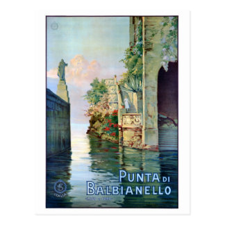 Italien Punta di Balbianello Restored vintage Vykort
