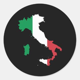 Italien Runt Klistermärke