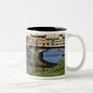 Italien Tuscany, Florence, Ponten Vecchio 2 Två-Tonad Mugg