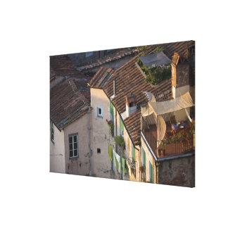 Italien Tuscany, Lucca, beskådar av townen och 5na Canvastryck