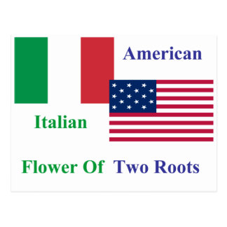 Italienare-Amerikan Vykort