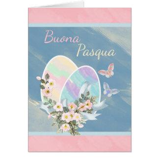 Italienare - Buona Pasqua - akvarellpåskägg Hälsningskort
