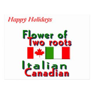 Italienare-Kanadensare Vykort
