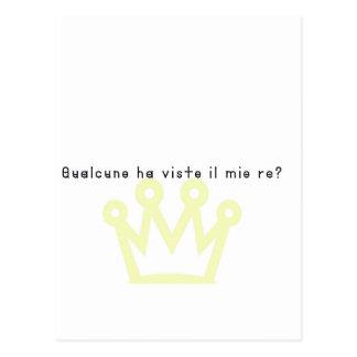 Italienare-Kung Vykort