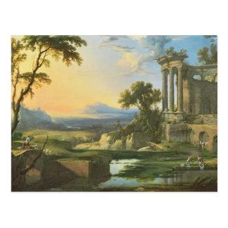 Italienare landskap med fördärvar vykort