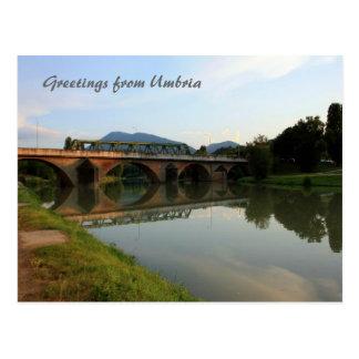 Italienare överbryggar vykortet vykort