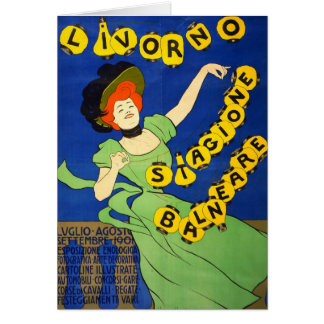 Italienare reser affischen 1901 hälsningskort
