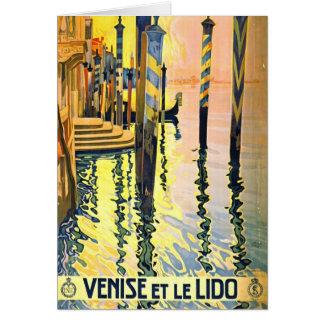 Italienare reser affischen 1920 hälsningskort