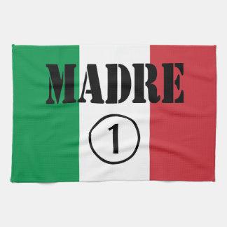 Italienare - talande mammor & mammor: Madre Numero Kökshandduk