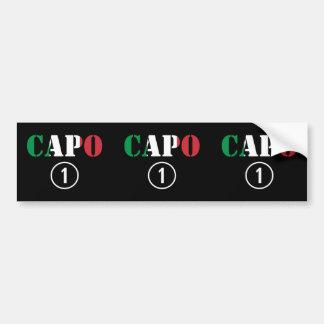 Italienarechefer: CapoNumero Uno Bildekal