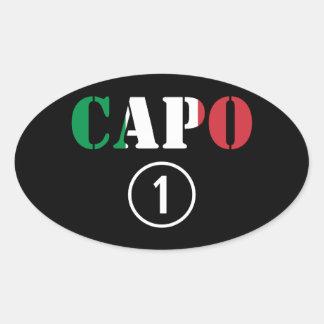 Italienarechefer: CapoNumero Uno Ovalt Klistermärke