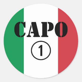 Italienarechefer: CapoNumero Uno Runt Klistermärke