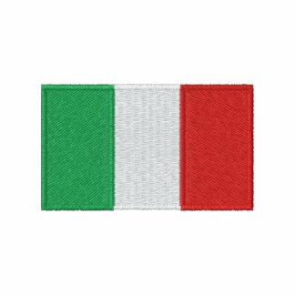 Italienflagga broderade manar t-skjorta