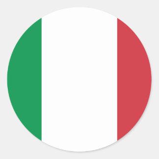 Italienflagga Runt Klistermärke