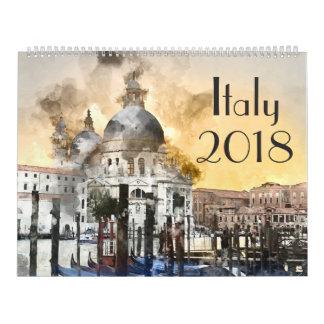 Italienkonstvattenfärg 2018 kalender