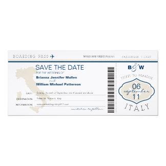 Italienlogiet passerar spara datera 10,2 x 23,5 cm inbjudningskort