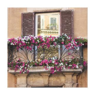 Italiensk balkong canvastryck
