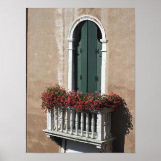 Italiensk balkong poster
