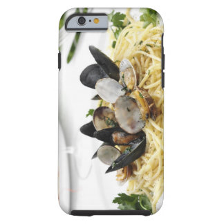 Italiensk cuisine. Spagettialle vongole. Tough iPhone 6 Fodral