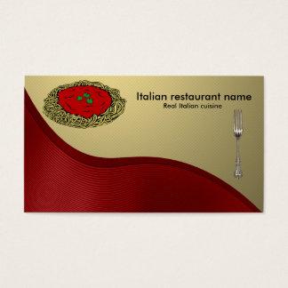 Italiensk cuisine visitkort