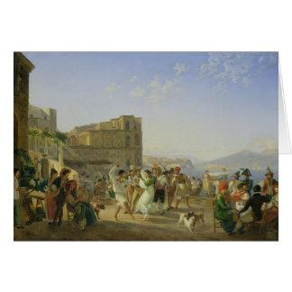 Italiensk dans, Naples, 1836 Hälsningskort