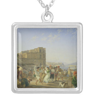 Italiensk dans, Naples, 1836 Silverpläterat Halsband