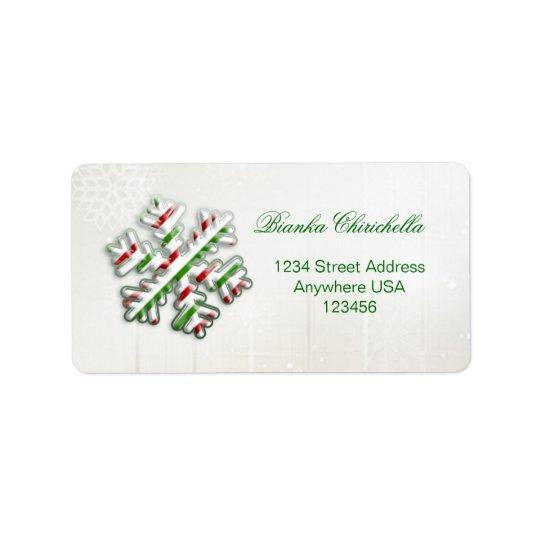 Italiensk etikett för flaggaSnowflakeAvery adress Adressetikett