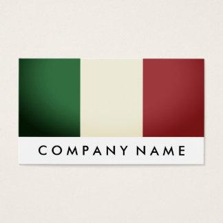 Italiensk flagga, italien visitkort