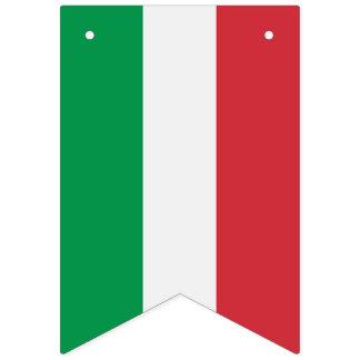 Italiensk flagga, partybaner med flagga av italien