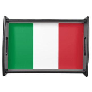 Italiensk flagga serveringsbricka