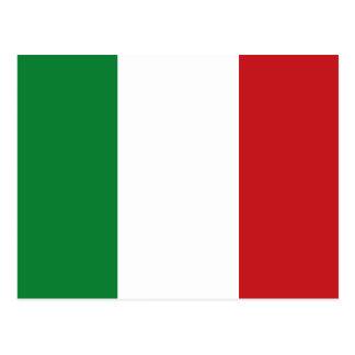 Italiensk flagga vykort