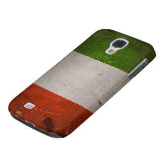 Italiensk Grungy italienflagga för pride/för vinta Galaxy S4 Fodral