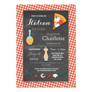 Italiensk inbjudan för Pizza för