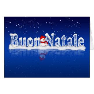 Italiensk julkort - Buon Natale e Felice Anno Hälsningskort