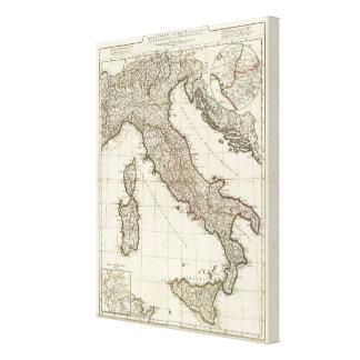 Italiensk karta för klassiker canvastryck