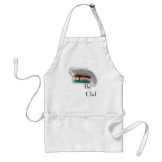 Italiensk kockkyss kocken förkläde
