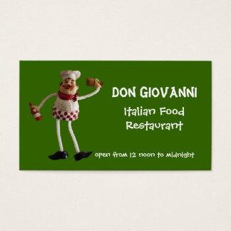 Italiensk matrestaurangvisitkort visitkort