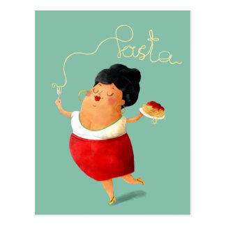 Italiensk spagettipastaälskare vykort