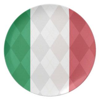 Italiensk tallrikar för visning för flaggaArgyle m