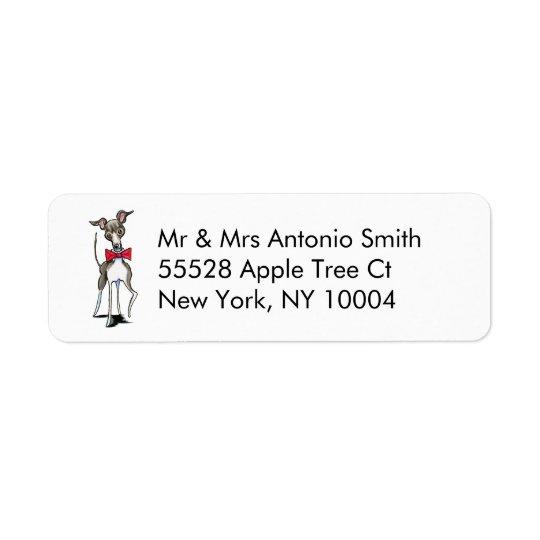 Italiensk vinthundAntonio anpassningsbar Returadress Etikett