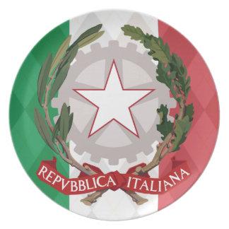 Italiensk visning Pl för flaggavapensköldArgyle mi Tallrik