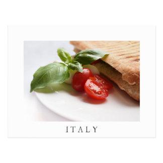 Italiensk vykort för text för vit för